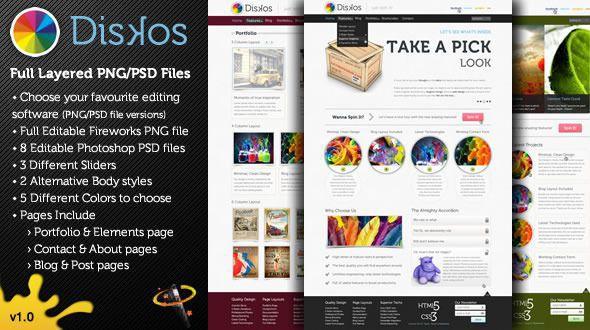 Diskos – Creative PSD Website Template