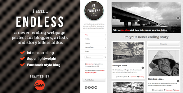 Endless – Infinite scrolling WordPress Theme