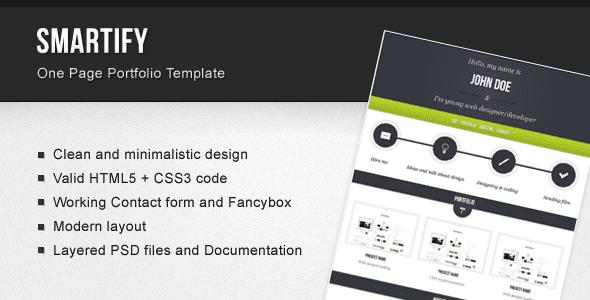 Smartify – One Page Portfolio Template