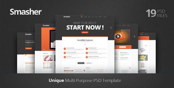 Smasher – Multi Purpose PSD Template