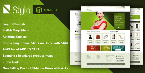 Stylo Magento Theme | Clearn, Modern & Stylish