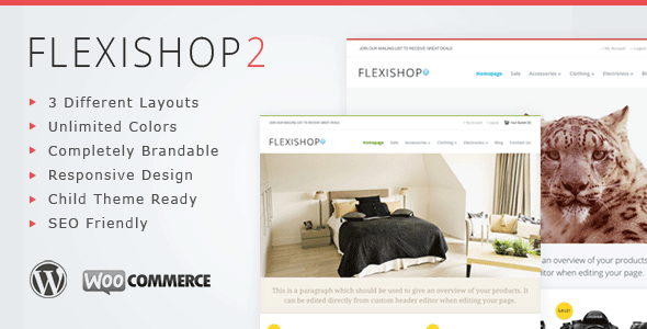 WP Flexishop 2 – A Flexible WooCommerce Theme