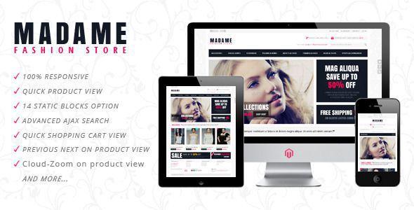 Madame – Responsive Fashion Store Magento Theme