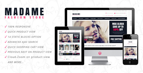 Madame – Responsive Fashion Store Magento Theme