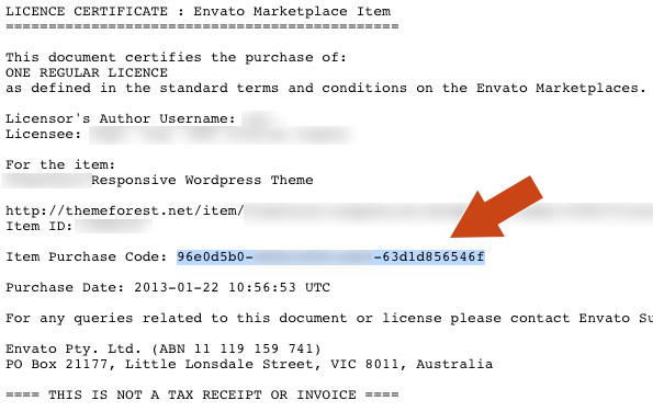 CodeCanyon License Example